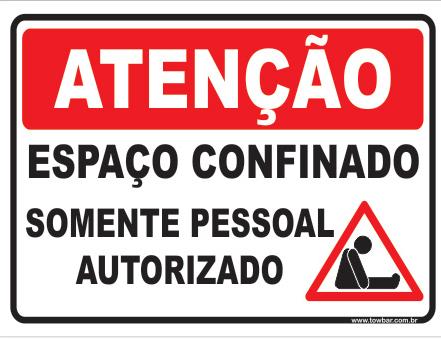 Autorizações de trabalho em espaços cofinados